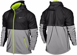 new product 89e6b 54caa Image is loading Nike-Shield-Flash-Reflective-3M-Windrunner-Black-Silver-