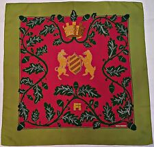 "VINTAGE HERMES PARIS FI SPECIAL ISSUE 1968 HENRY d'ORIGNY SILK 35"" SCARF"