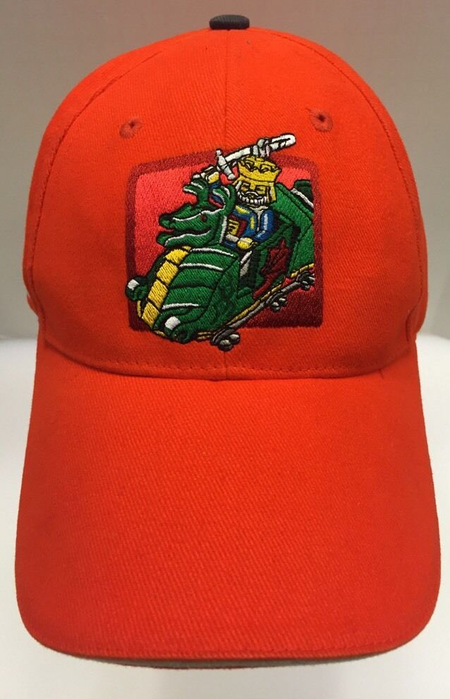 Legoland San Diego Strap Back Hat Cap King King Cap Dragon Logo Orange Men's OSFA Rare 4acd88