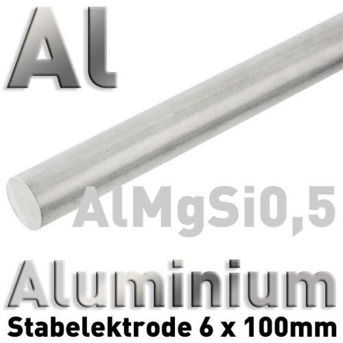 Aluminium-Anode Elektrode Ø6 x 100 mm EN AW-6060 Al 99 3.3206 Rund Stab Rundstab