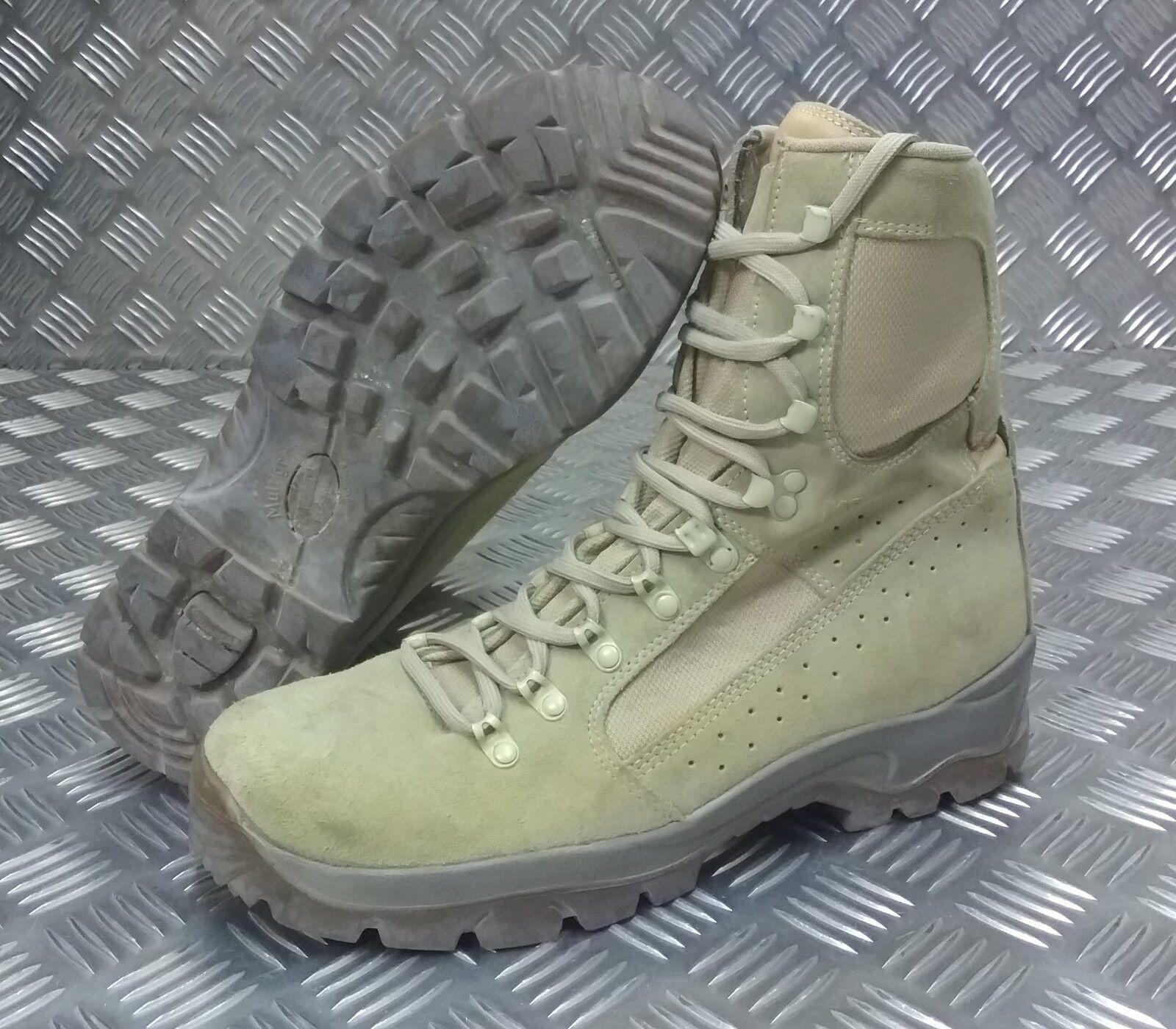 Genuine British Army Issue Meindl Desert Fox Assault / Combat Patrol Combat / Stiefel 705dff