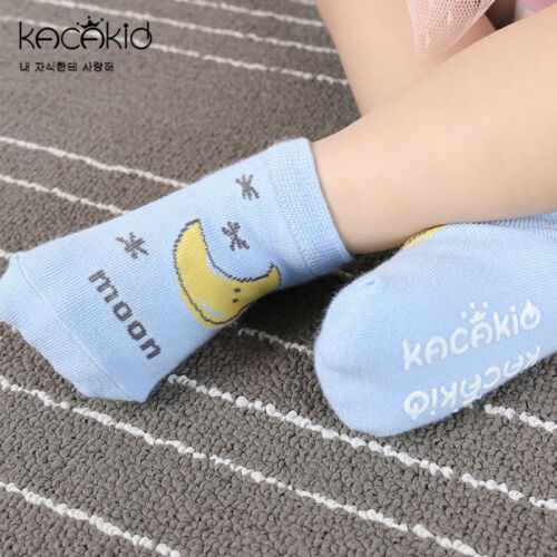 New Baby Socks Newborn Cute Toddler Anti-slip Socks Cartoon Unisex Cotton Socks