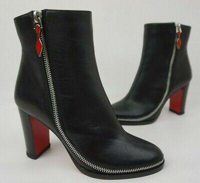 c306457dc96 Christian Louboutin Telezip Ankle Black Boots Bootie Zipper Women's Size 36  | eBay