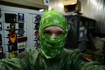 Russian army Scarf Face Mask Balaclava Light green Berezka camo