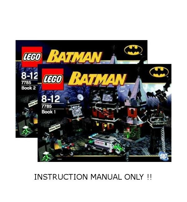 (InstructionS) for LEGO 7785 - BATMAN Arkham Asylum - INSTRUCTION MANUAL ONLY