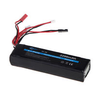 Bqy Transmitter Lipo Battery 11.1v 2200mah 3 Connector For Jr Futaba Walkera Us on sale