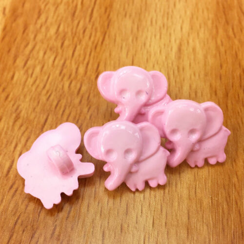 10 x Nellie the Baby Elephant 15mm x 15mm shank on back 8 colours *