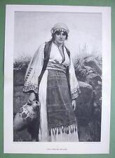 "EASTERN BEAUTY Girl From Bulgaria  -  Victorian Era Print 15"" x 21"""
