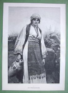 EASTERN-BEAUTY-Girl-From-Bulgaria-Victorian-Era-Print-15-034-x-21-034