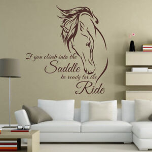 Image Is Loading Horse Head Quote Wall Sticker Mural Art Decal