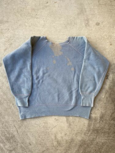 1960s Baby Blue Blank Sweatshirt