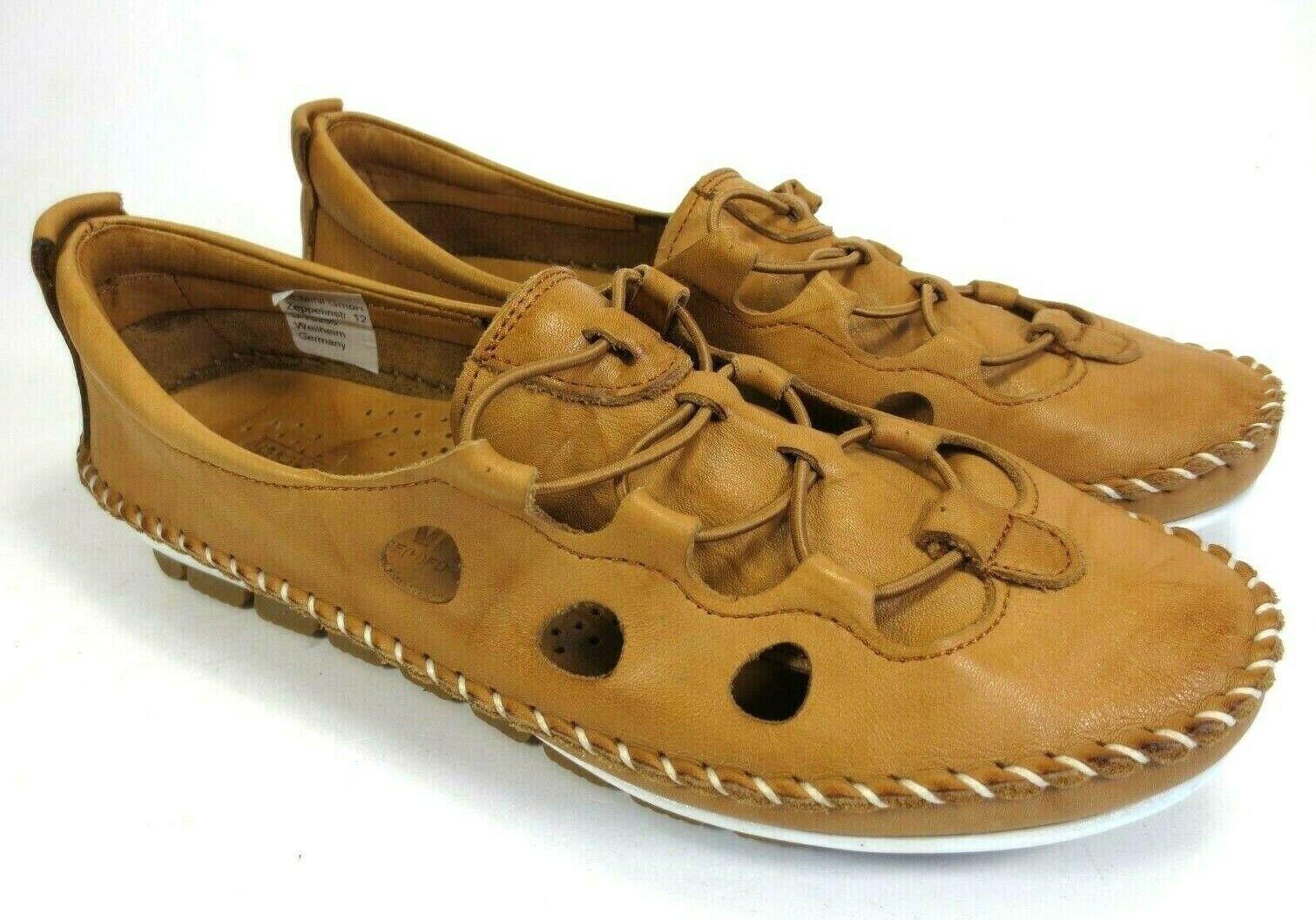 GEMINI Leder Schuhe Slipper Sommer Schuhe natur braun cognac Gr. 37 NEU 69,95