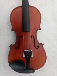 New 4//4 Full Size Acoustic Maple Violin w Ebony Parts Case Bow Rosin String Mute