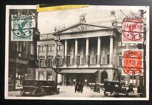 1928 Breslau Germany RPPC Postcard Early Airmail Cover To Czechoslovakia