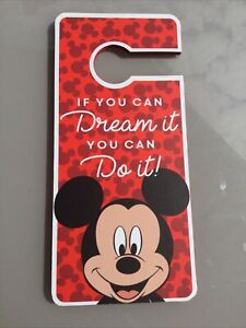 DISNEY MICKEY WOODEN DOOR SIGN HANGER IF YOU CAN DREAM IT YOU CAN DO IT PRIMARK
