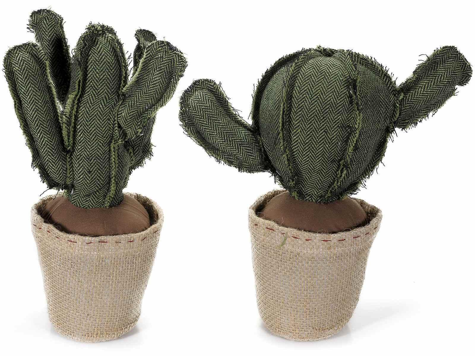 FERMAPORTA CACTUS stoffa imbottita casa arroto shabby pianta grassa h35 messican