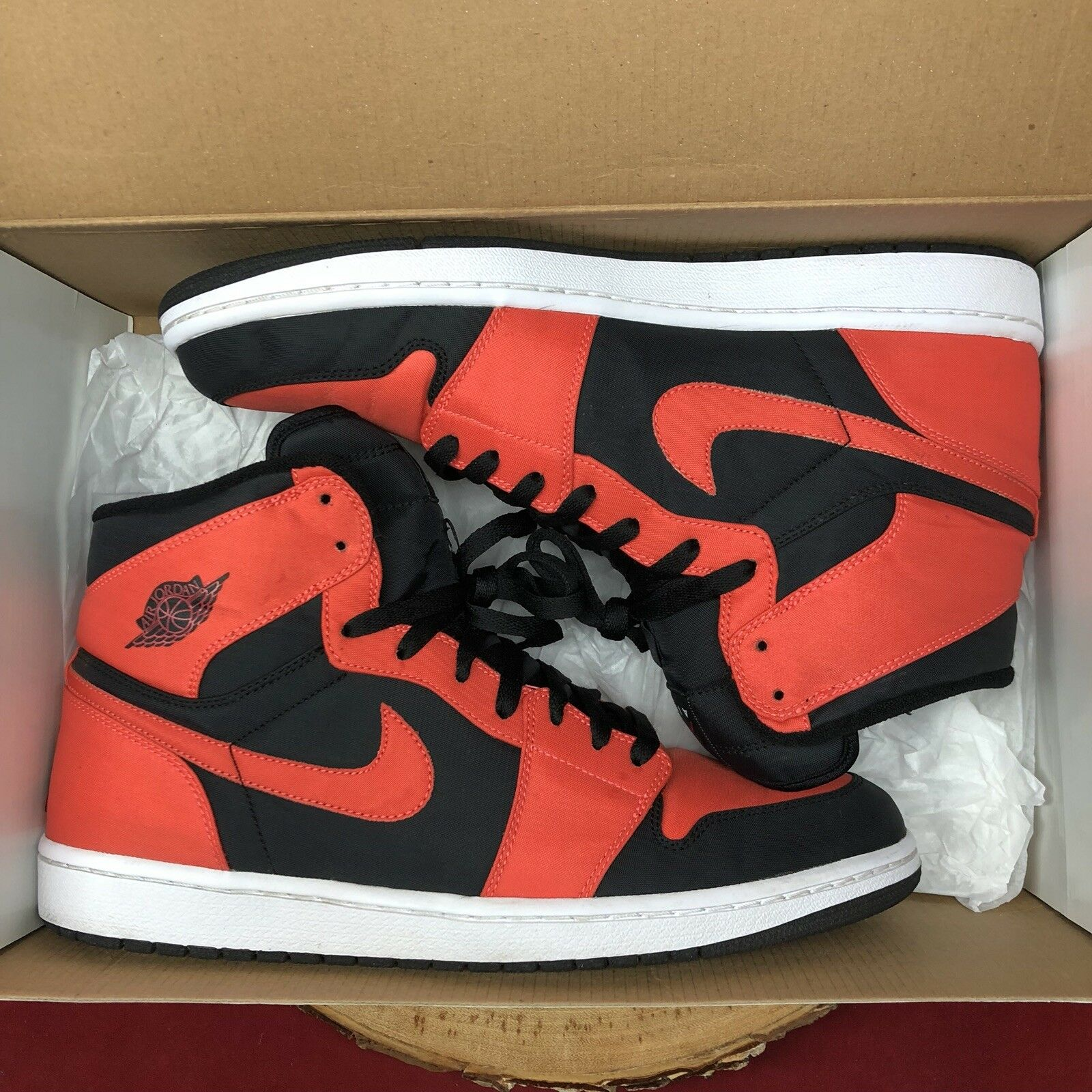 Nike air jordan 1 retro - hohe größe 12 344613-061 schwarz max orange 344613-061 12 cremefarbene gezüchtet bb2c97