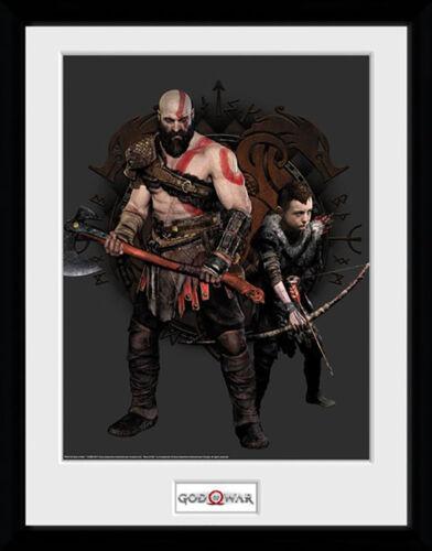 Mounted /& Framed Print God of War Kratos and Atreus