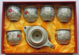 Porcelain Tea Set Red Box
