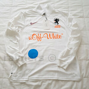 36f2cb4676e1 BNWT Nike x Off White Medium Home Football Jersey White Total Orange ...