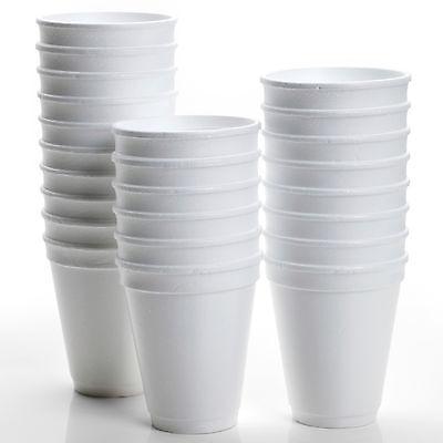 POLYSTYRENE FOAM CUPS 10oz 300ml HOT DRINKS INSULATED 20 40 60 80 100 200 500