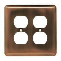 Stamped Ant Copper Double Duplex Outlet Switch Cover