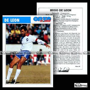 De Leon Hugo (nacional) - Fiche Football / Futbol Futebol 1989 DernièRe Technologie