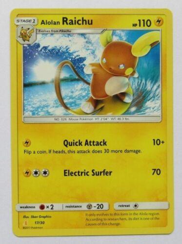 Alolan Raichu 17//30 SM Lycanroc /& Alolan Raichu Trainer Kit Pokemon Card