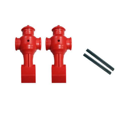 Shelti Set of 2 Red Foosball Men with Roll Pins