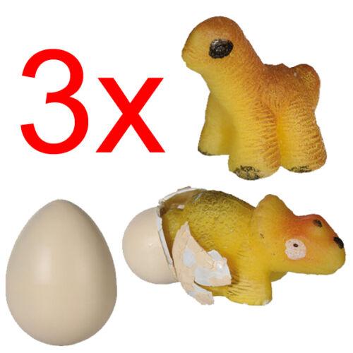 3 X GROWING DINOSAUR EGG HATCHING MAGIC TOY GIFT XMAS KIDS FUN DINO WATER NEW
