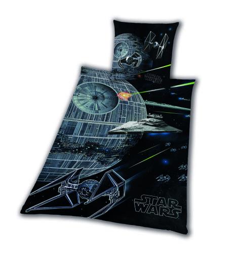 Bettwäsche glatt Star Wars 8 Todesstern Rey Finn Tico Yoda 135 x 200 cm NEU WOW