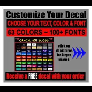 Details About Make Your Own Custom Die Cut Vinyl Decal Sticker Car Window Wall Laptop Font