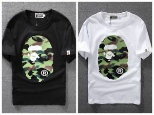 463f6a73 Bape T shirt A Bathing Ape Basic TEE Short Sleeve Crew Neck T-Shirt ...