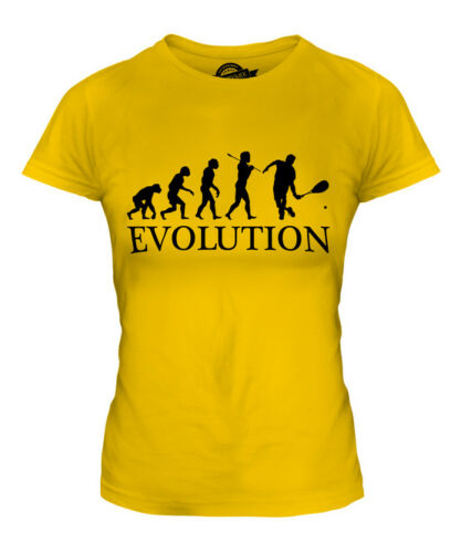 SQUASH PLAYER EVOLUTION OF MAN LADIES T-SHIRT TEE TOP GIFT CLOTHING
