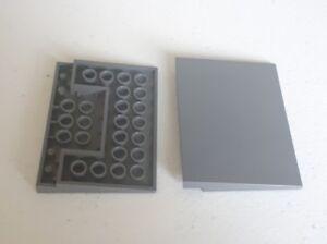 2 X Genuine LEGO 4515 Foncé Gris Pente rampe Gray Train crossing 9 V A40  </span>