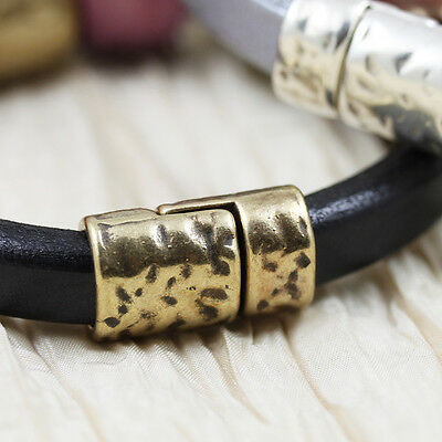 **Pick Your Color and Style **  24x13mm Licorice Leather Magnetic Clasp
