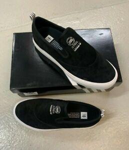 adidas Originals Matchcourt Slip-on Black White Men Casual Shoes Sneakers CQ1132