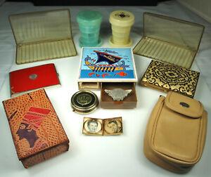 VINTAGE-TOBACCIANA-MISC-LOT-Cases-Cig-Box-Egyptian-Camel-Pin-Italian-Leather