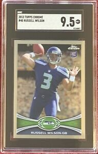 2012 Topps Chrome RUSSELL WILSON Rookie Card #40 RC SGC 9.5 Mint + Seahawks🔥