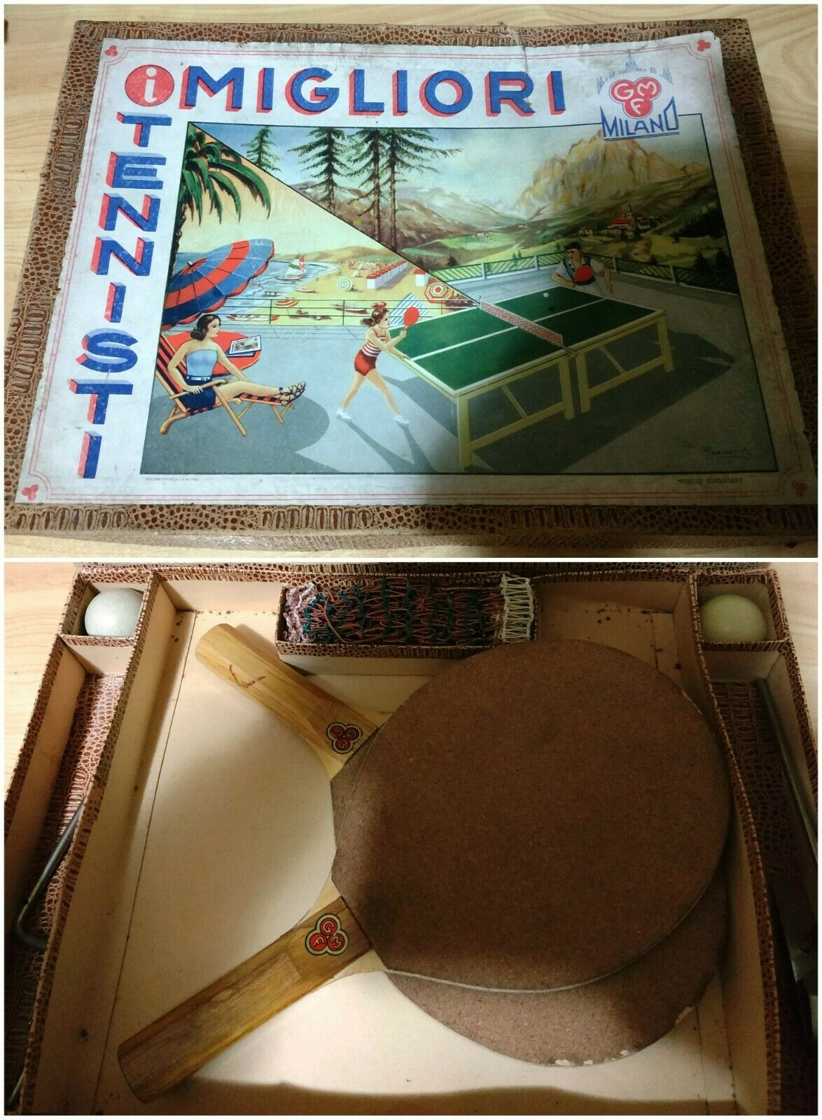 PING PONG TABLE SET VINTAGE