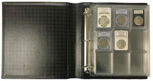 LIGHTHOUSE Certified Coin Slab Album Dust Case In GREEN Holds 36 Slabs
