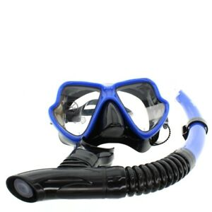Adult Mask Snorkel Set Diving Scuba Dive Diver Snorkelling Blue By Mares