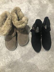 Peacock Black Mini Heel Boots Size