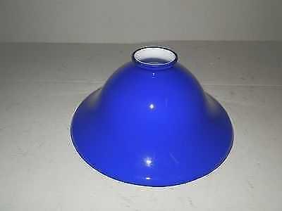 Vetro di ricambio per lampada da tavolo ministeriale BLU A cono Inglese 22 cm