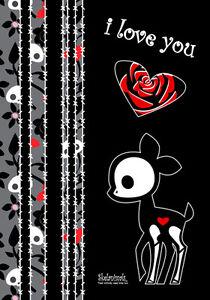Image Is Loading Skelanimals Dee Deer I Love You Heart Cute
