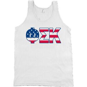 Canvas Tank Top Shirt NEW Alpha Sigma Phi Fraternity Flag Bella