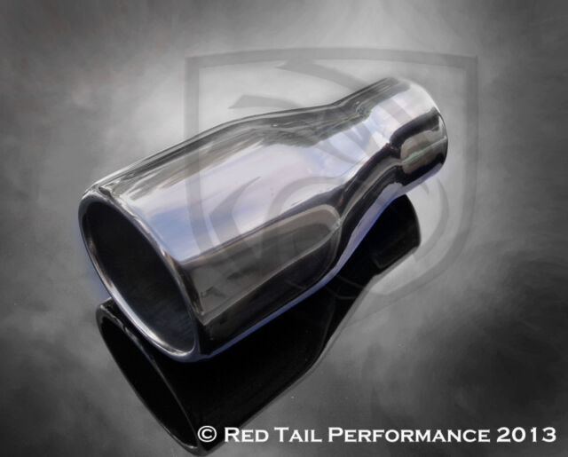 """RTP Exhaust Muffler Tip Oval Two Wall Rolled 2.25"""" Inlet 3.75X3.25 OD CLEARANCE"""