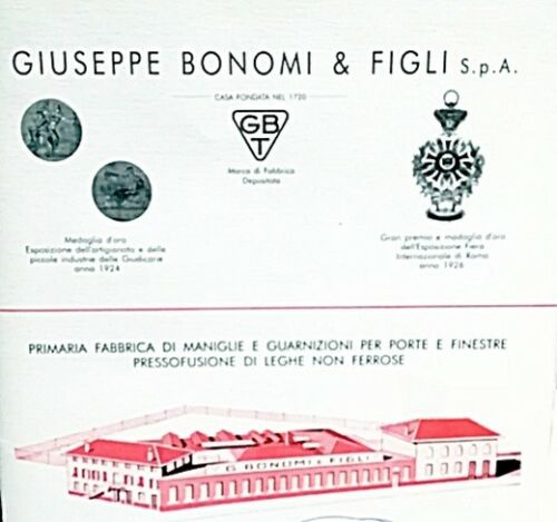 227//16 Gbt Bonomi Cremonese movement Pins Polished Brass Painted Art