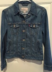 Womens Levi's San Francisco Sz XS denim jacket Chest 34&#034 ...