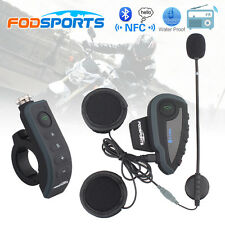 Motorcycle Helmet Remote Interphone Bluetooth Intercom Headset FM NFC V8 1200m